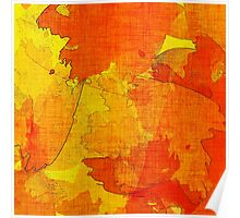 Orange, Red and Yellow Abstract  Poster