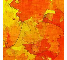 Orange, Red and Yellow Abstract  Photographic Print
