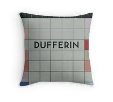DUFFERIN Subway Station Throw Pillow