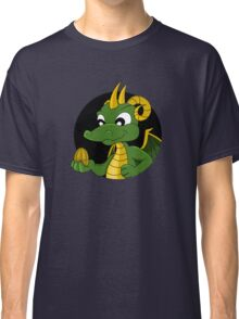 Cute green dragon cartoon Classic T-Shirt