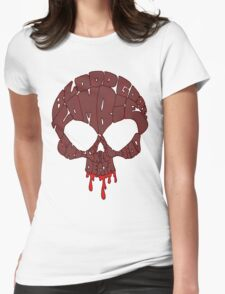 Word Skull Red Womens Fitted T-Shirt