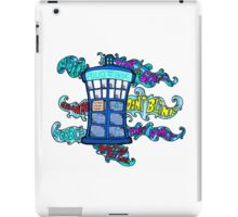 Tardis sounds off iPad Case/Skin