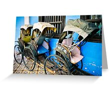 Rickashaw - Penang, Malaysia Greeting Card