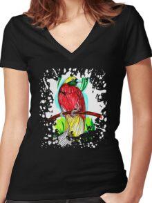 Lesser Bird Women's Fitted V-Neck T-Shirt