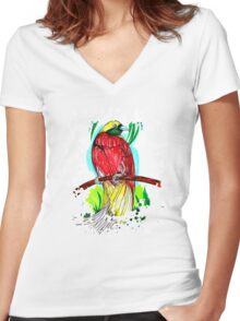 Lesser Bird Women's Fitted V-Neck T-Shirt