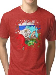 Guinea Pigs in a cage Tri-blend T-Shirt