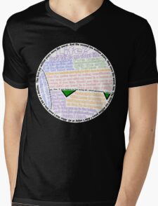 Hitchhiker's Guide Marvin Quotes Mens V-Neck T-Shirt