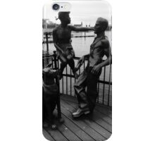 Sculptures At Mermaid Quay Cardiff Wales iPhone Case/Skin