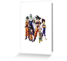 Dragonball z Charcters Greeting Card