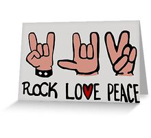 Rock Love Peace Greeting Card