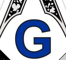 Masonic Square and Compass no. 6 Sticker