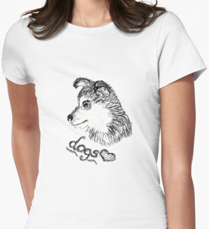 Dogs❤ Womens Fitted T-Shirt