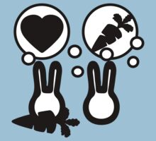 hell with bunny love parody -  take carrot One Piece - Short Sleeve