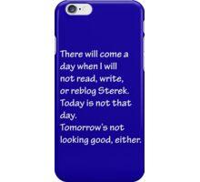 Read Write or Reblog Sterek iPhone Case/Skin