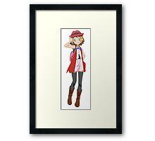 pokemon x and y serena Framed Print