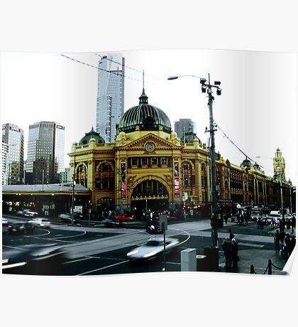 Photograph of Flinders Street Station Melbourne Poster