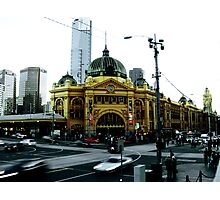 Photograph of Flinders Street Station Melbourne Photographic Print