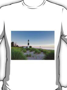 Summer Evening at Big Sable Point Lighthouse - Ludington Michigan T-Shirt