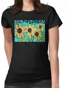 Sunflowers Womens Fitted T-Shirt