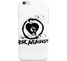 Rise Against Band logo no background iPhone Case/Skin