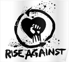 Rise Against Band logo no background Poster