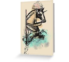 medieval renaissance nerd horse and sword Greeting Card