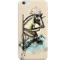 medieval renaissance nerd horse and sword iPhone Case/Skin