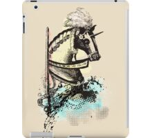 medieval renaissance nerd horse and sword iPad Case/Skin