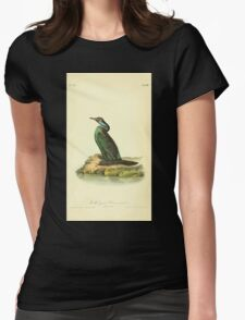 James Audubon Vector Rebuild - The Birds of America - From Drawings Made in the United States and Their Territories V 1-7 1840 - Violet Green Cormorant Womens Fitted T-Shirt