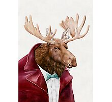 Moose In Maroon Photographic Print