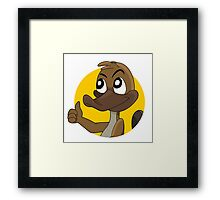 Platypus giving thumbs up cartoon Framed Print