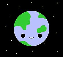 Cute earth and stars by peppermintpopuk