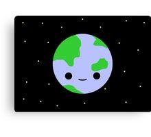 Cute earth and stars Canvas Print