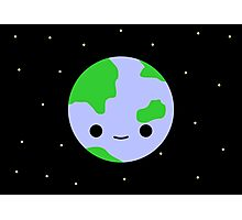 Cute earth and stars Photographic Print
