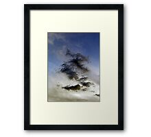 ©HCS Black Clouds Two Faces IA. Framed Print