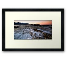Sorbet Dawn Crush Framed Print
