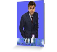 Doctor Who-Ten Greeting Card