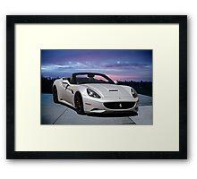 2011 Ferrari California '3Q Pass Side' Framed Print