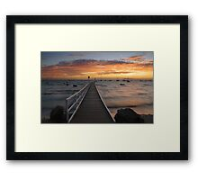 Camerons Bight Jetty Framed Print