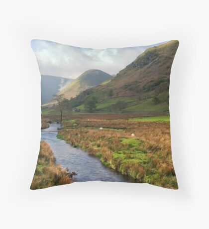 Martindale Stream, Cumbria Throw Pillow