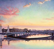 """Pont Neuf Paris"" Watercolor by Paul Jackson"