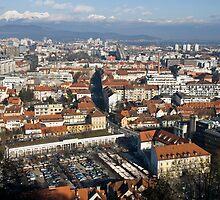 Ljubljana The capital of Slovenia by Knedl