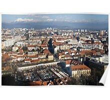Ljubljana The capital of Slovenia Poster