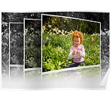 Amelia in Spring Flowers Poster