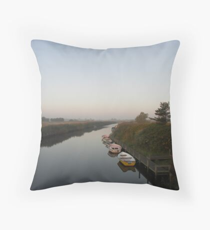 Dawn by the river Throw Pillow