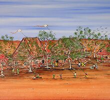 """Outback Family Life""   Australia   Original Sold on Commission  by EJCairns"