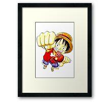 Luffy Fist  Framed Print