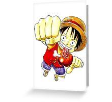 Luffy Fist  Greeting Card