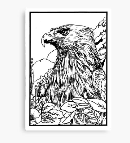 Pen and Ink collection -eagle Canvas Print