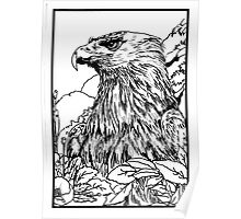 Pen and Ink collection -eagle Poster